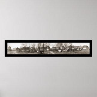 Unionville MO Panorama Photo 1908 Poster