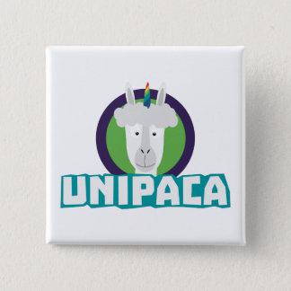Unipaca Unicorn Alpaca Z67aj 2 Inch Square Button