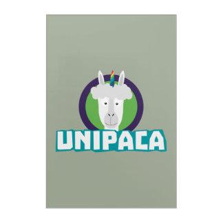 Unipaca Unicorn Alpaca Z67aj Acrylic Print