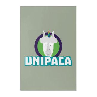 Unipaca Unicorn Alpaca Z67aj Acrylic Wall Art