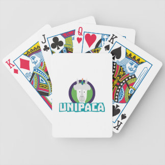 Unipaca Unicorn Alpaca Z67aj Bicycle Playing Cards