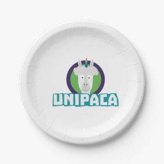 Unipaca Unicorn Alpaca Z67aj Paper Plate