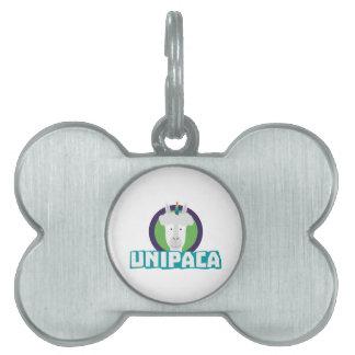 Unipaca Unicorn Alpaca Z67aj Pet Name Tag