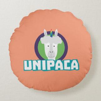 Unipaca Unicorn Alpaca Z67aj Round Pillow