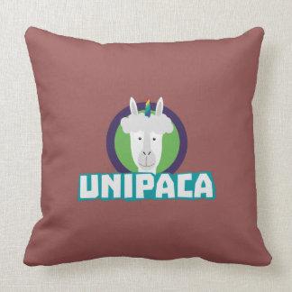 Unipaca Unicorn Alpaca Z67aj Throw Pillow
