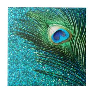 Uniqe Aqua Peacock Tile