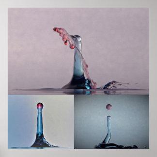 Unique 3 Water Drop Poster