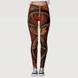 Unique Abstract Art Design Spandex Blend Leggings