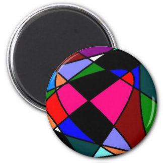 Unique Abstract Art Retro 2 Inch Round Magnet