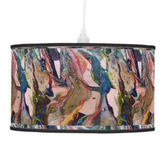 Unique abstract marble effect lamp shade