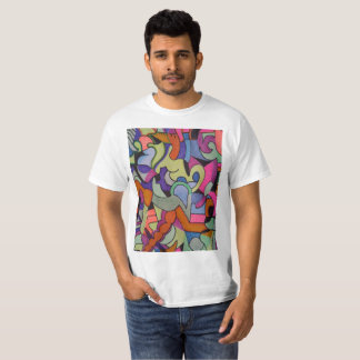 Unique Abstractions Design all colored in T-Shirt