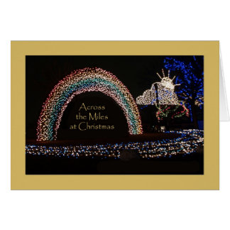 Unique Across the Miles Rainbow Christmas Card