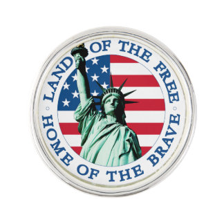 Unique American flag Lapel Pin (silver plated)