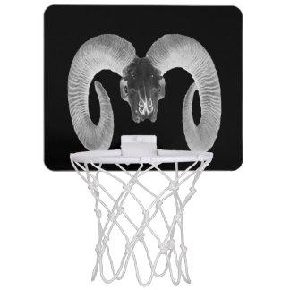 unique and handmade  goat skull mini basketball hoop
