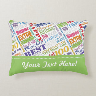Unique And Special 100th Birthday Party Gifts Decorative Pillow