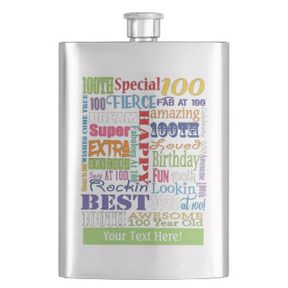 Unique And Special 100th Birthday Party Gifts Hip Flask