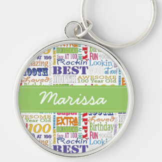 Unique And Special 100th Birthday Party Gifts Keychain