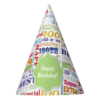 Unique And Special 100th Birthday Party Gifts Party Hat