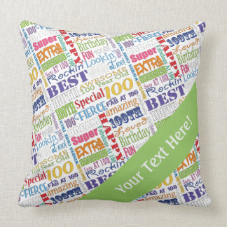 Unique And Special 100th Birthday Party Gifts Throw Pillow