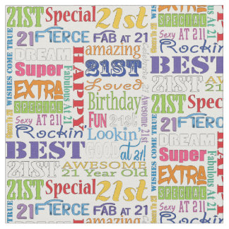Unique And Special 21st Birthday Party Gifts Fabric