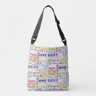 Unique And Special 25th Birthday Party Gifts Crossbody Bag