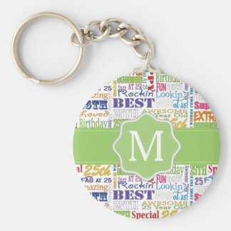 Unique And Special 25th Birthday Party Gifts Keychain