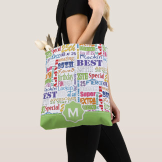 Unique And Special 25th Birthday Party Gifts Tote Bag