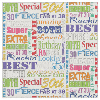 Unique And Special 30th Birthday Party Gifts Fabric