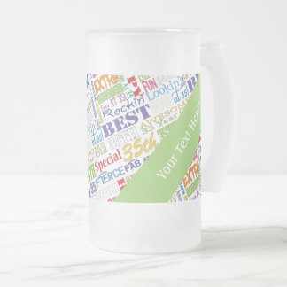 Unique And Special 35th Birthday Party Gifts Frosted Glass Beer Mug