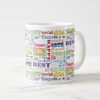 Unique And Special 40th Birthday Party Gifts Large Coffee Mug