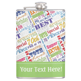 Unique And Special 70th Birthday Party Gifts Hip Flask