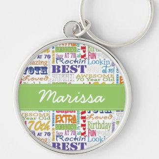 Unique And Special 70th Birthday Party Gifts Keychain