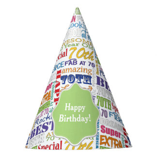 Unique And Special 70th Birthday Party Gifts Party Hat