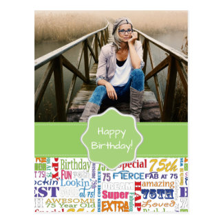 Unique And Special 75th Birthday Party Gifts Postcard