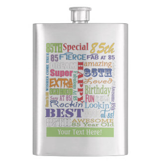 Unique And Special 85th Birthday Party Gifts Hip Flask