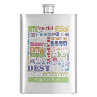 Unique And Special 95th Birthday Party Gifts Hip Flask