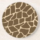 Unique Animal Sandstone Coaster - Giraffe Print
