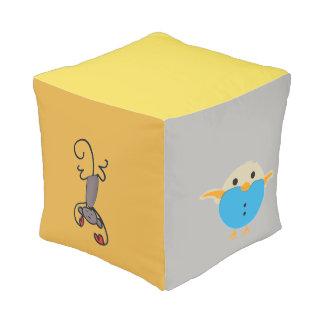 Unique Animals colorful kids cube pouf