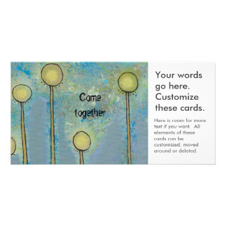 Unique art design fun painting customize your own personalized photo card