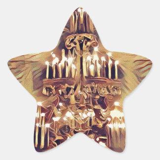 Unique Artistic Vintage Lighted Chandelier Star Sticker