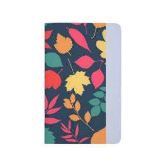 Unique autumn leaves design, beautiful colors journal