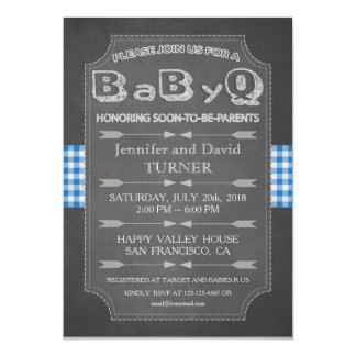 Unique Baby Shower BaByQ Invitation