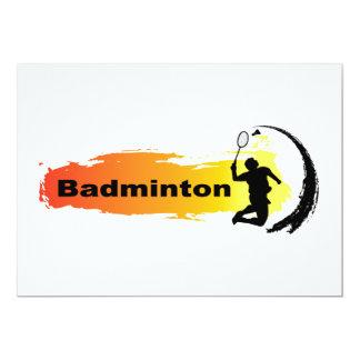 Unique Badminton Card