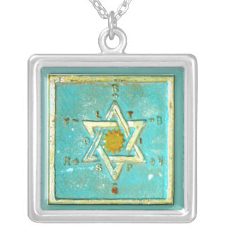 Unique Bar Bat Mitzvah Gift Necklace, Hanukkah Silver Plated Necklace