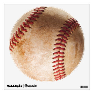 Unique Baseball Artwork Circle Wall Decal