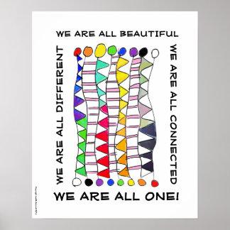 Unique beautiful & one diversity celebration poster