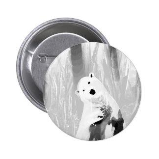 Unique Black and White Polar Bear Design 2 Inch Round Button