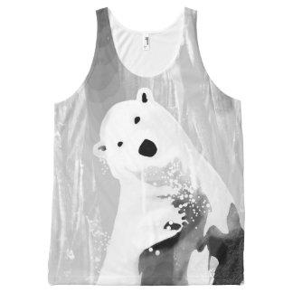 Unique Black and White Polar Bear Design All-Over-Print Tank Top