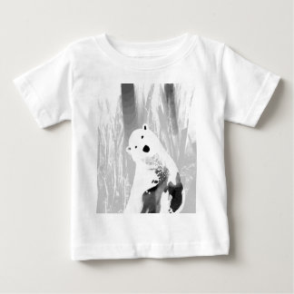 Unique Black and White Polar Bear Design Baby T-Shirt