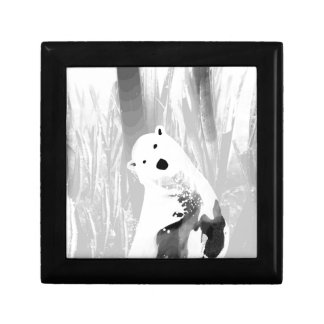 Unique Black and White Polar Bear Design Gift Box